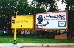 Sinclair billboard, 1998