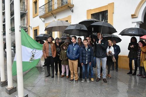 Celebraciones del Día de Andalucía izado de bandera en el ayuntamiento