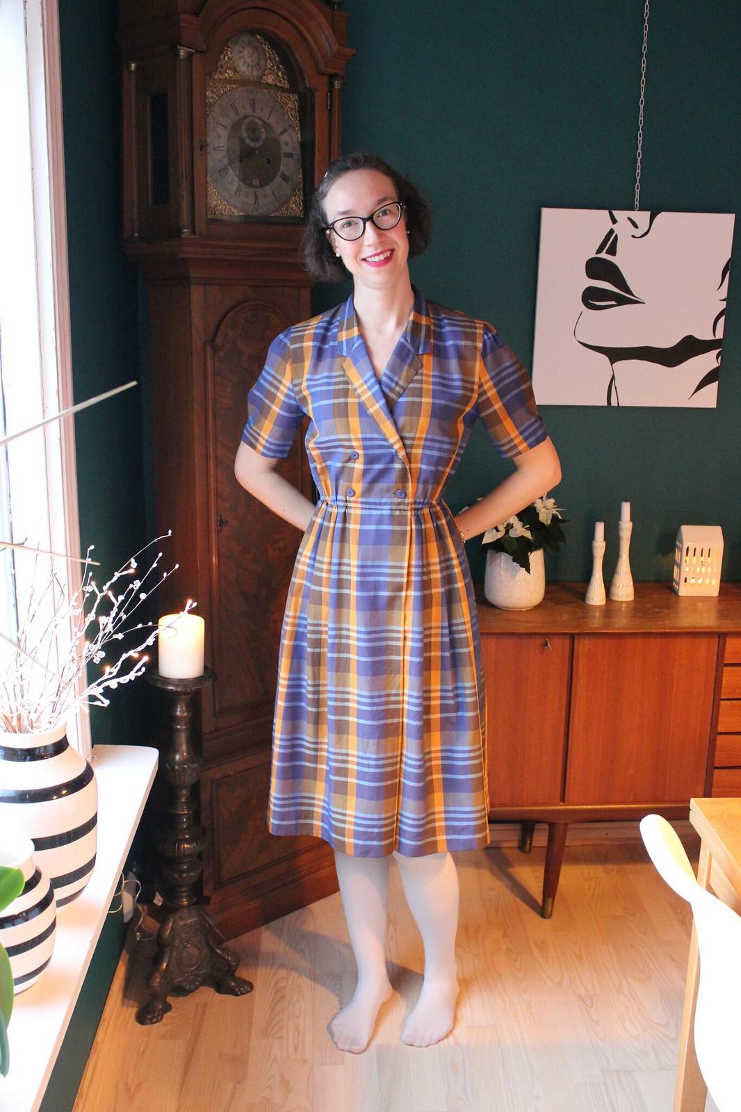 Purple plaid dress / etdrysskanel.com
