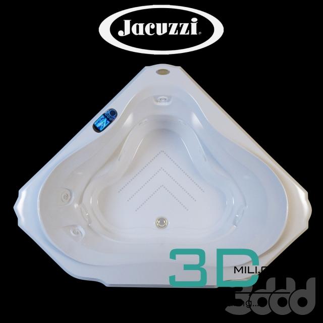 01. Jacuzzi BELLAVISTA CORNER BATH - 3D Mili - Download 3D Model ...