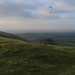 SDW: barrow & paragliders - above Fulking