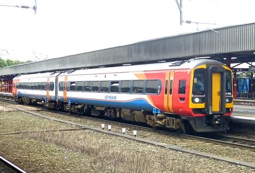 Class 158 'East Midlands Trains' No. 158799. BREL Derby Express Sprinter DMU on Dennis Basford's railsroadsrunways.blogspot.co.uk'