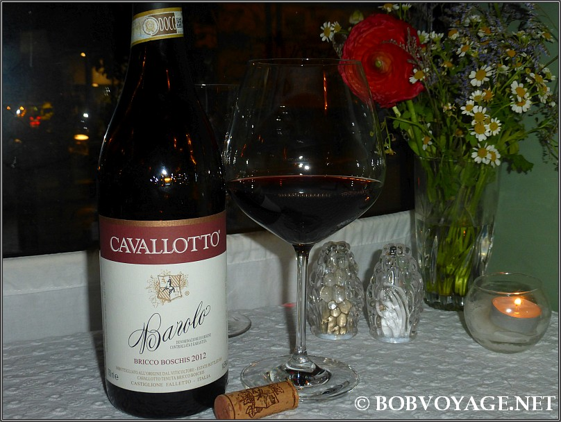 Cavallotto Barolo Bricco Boschis 2012  ב- קוצ'ינה הס 4 - cucina hess 4