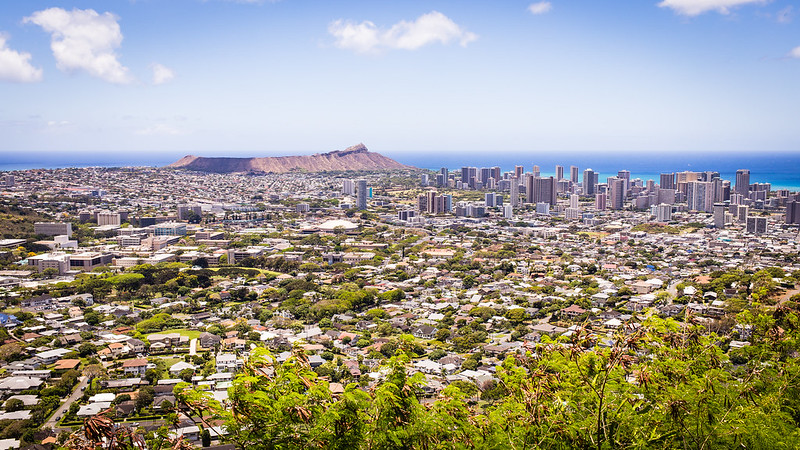 View from Pu'u 'Ulaka State Park - Round Top Drive - Honolulu - Oahu - Hawaii