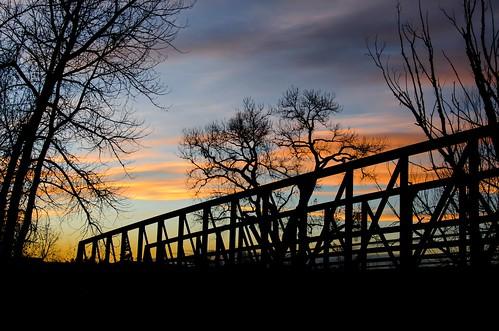 bridge silhouette mccabemeadowstrail parkercolorado