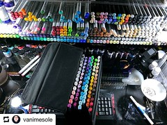 #Repost @vanimesole • • • Every time I'm making a travel kit I fell like I'm pulling my weapons of choice of a rack. Lol Anyways, here's the list of markers I own. You don't need them all to make awesome work. You just have to know which ones work best fo