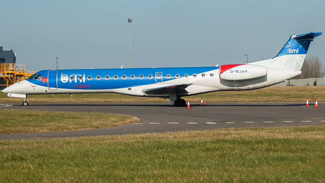G-RJXH - BMI Regional e145 @ Cardiff Airport 250218