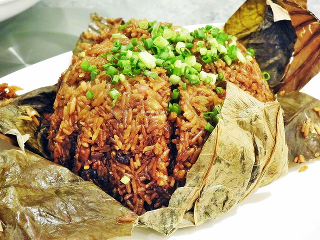 Fried Glutinous Rice Wrapped In Lotus Leaf