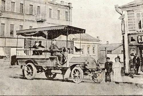 Первый автобус Daimler в Москве