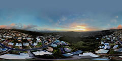 Sunset over Waikiki as seen from my Maunalani Heights family home at 190 feet - an aerial Equirectangular 360° VR