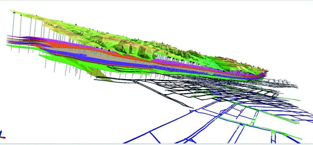 3D-модель угольной шахты
