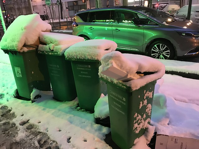 Trash in the snow