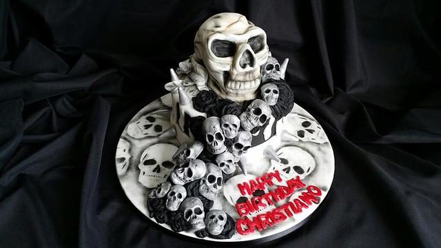 Skulls Cake by Wake N Cake