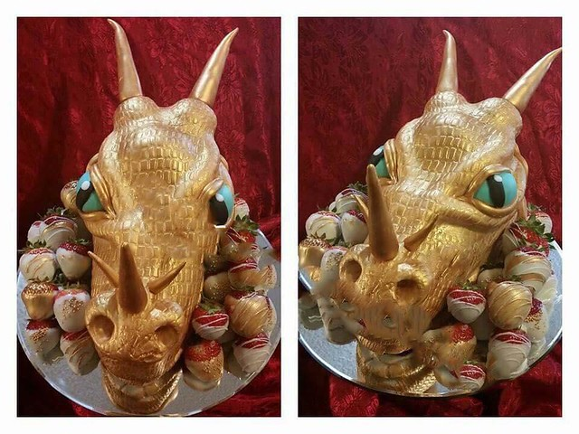 Dragon Head Cake by Trinity Chapman of Sweet Sensations-Wedding and Special Occasion Cakes