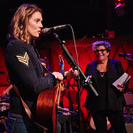 Tue, 05/12/2017 - 6:27am - Brandi Carlile and her band (the twins, plus drums and strings) play for lucky WFUV Marquee Members at Rockwood Music Hall in New York City, 12/5/18. Hosted by Rita Houston. Photo by Gus Philippas/WFUV.