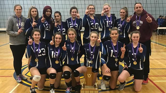 2017-18 Junior Girls Volleyball Champions: Orchard Park Patriots