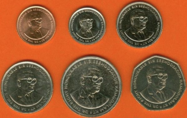 Sada mincí Maurícius 5-20 Cents ½-1-5-10 Rupees 2000-2010