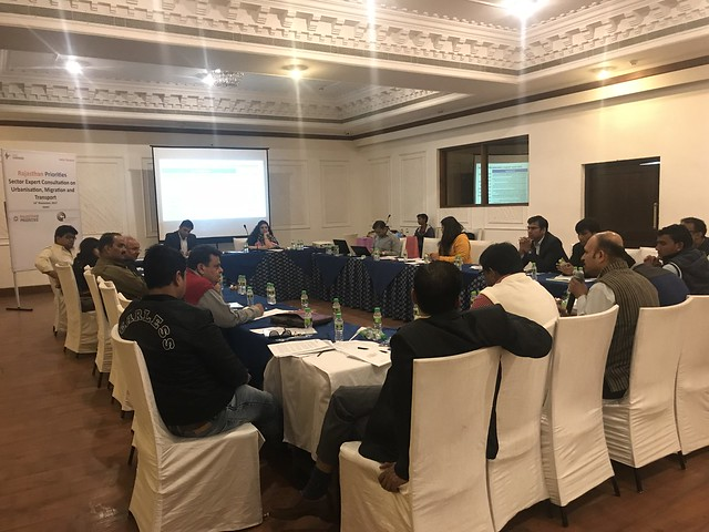 Rajasthan Priorities: Sector Expert Consultation on Transport, Urbanization and Migration