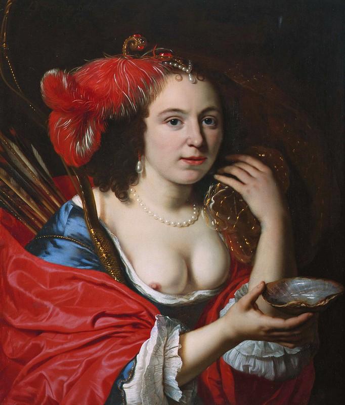 Bartholomeus van der Helst - Anna du Pire as Granida (1660)