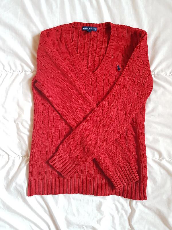 Folded flat sweater