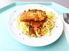 "Coalfish filet ""Picatta Milanese"" with tomato sauce & butter noodles / Seelachsfilet ""Picatta Milanese"" mit Tomatensugo & Butternudeln by JaBB"