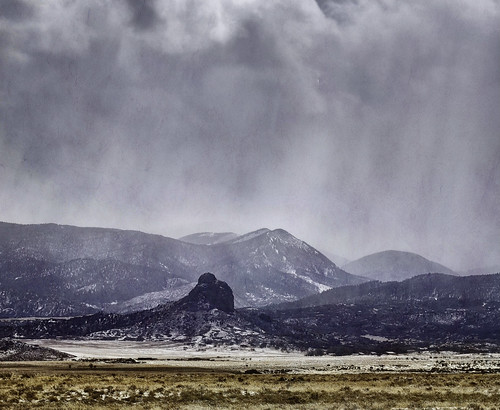 View of Goemmer Butte, from Highway 160