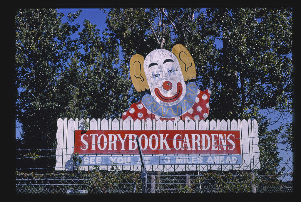 Storybook Gardens billboard, Lake Delton, WIsconsin (LOC)