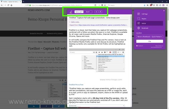 OneNote Web Clipper Firefox, Chrome & Edge 294