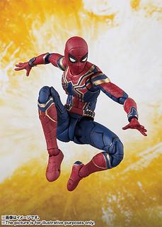 穿上帥氣新款戰衣參戰~! S.H.Figuarts《復仇者聯盟3:無限之戰》鋼鐵蜘蛛 Iron Spider アイアン・スパイダー(アベンジャーズ/インフィニティ・ウォー)
