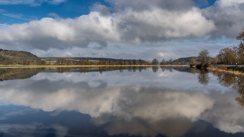 mirrored clouds