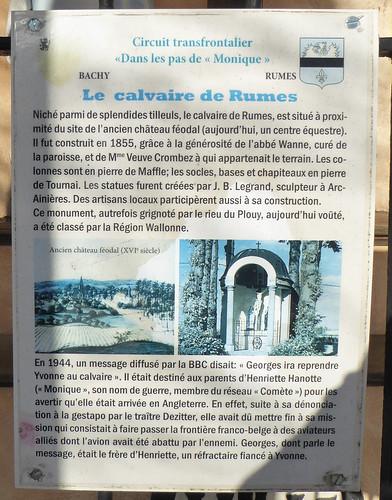 Rumes, note explicative du calvaire