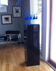 Black Gloss Acrylic Pedestal