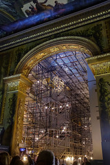 The Proscenium Arch, with the almost as magnificent scaffolding