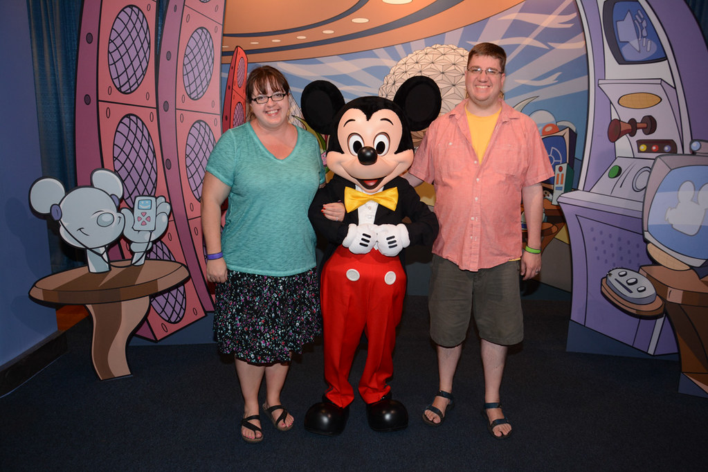 Ken and I with Mickey Mouse