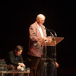 Alexander McCall Smith reads a poem written specially for the event, 'Remember Muriel Spark' | © Alan McCredie