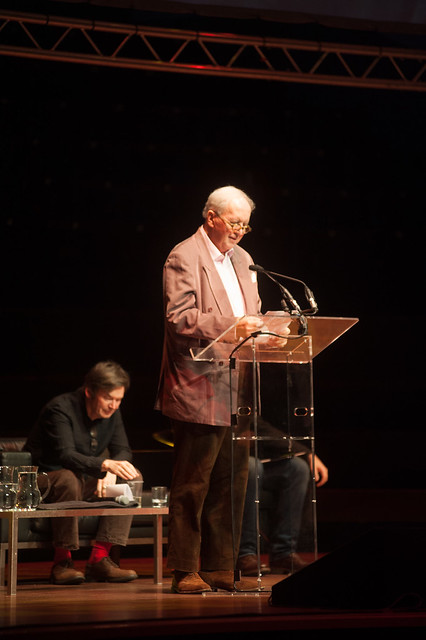 Alexander McCall Smith reads a poem written specially for the event, 'Remember Muriel Spark'