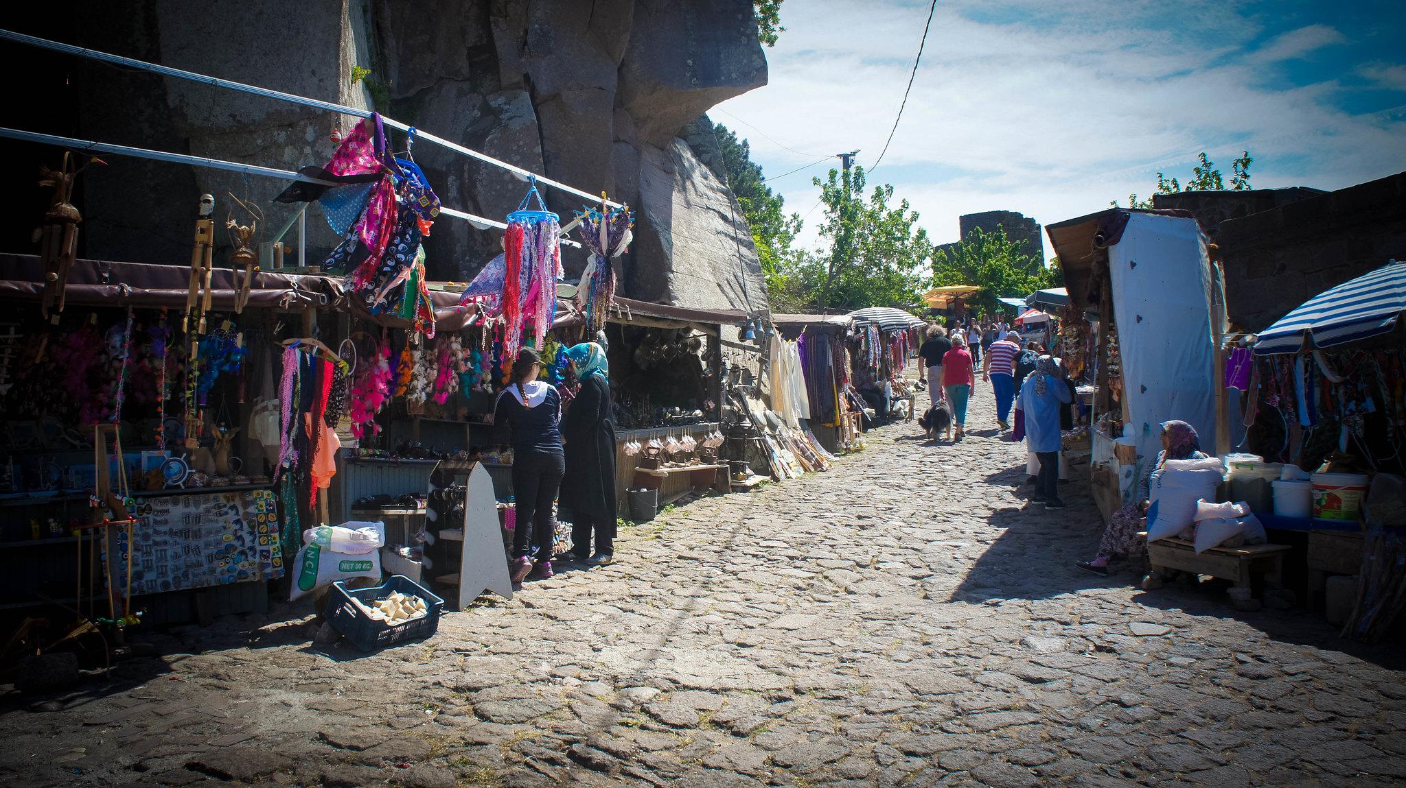 Assos village market.