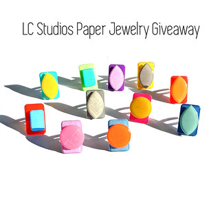Paper and Resin Rings by LC Studios