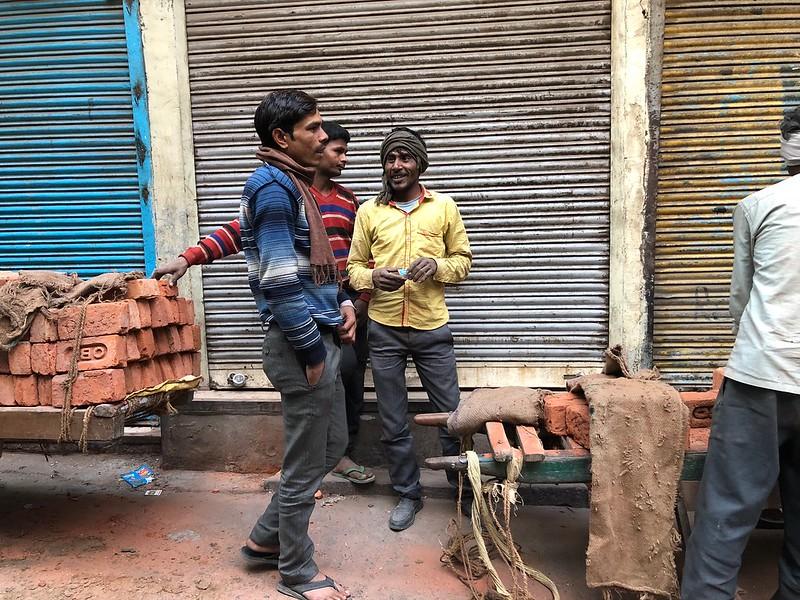City Life - Labourers' Load, Central Delhi