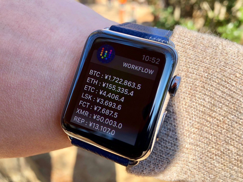 Cokncheck on Apple Watch via Workflow