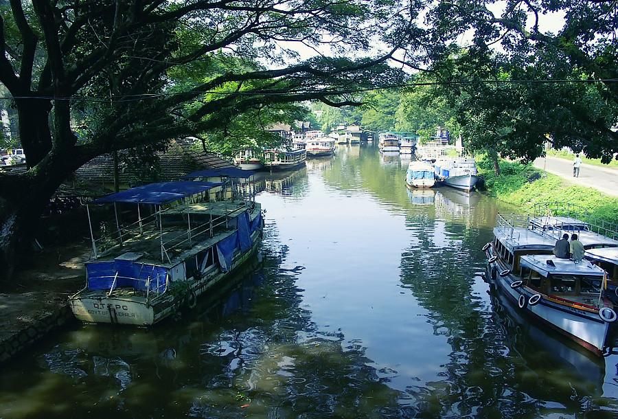 Тихие заводи Аллапуджи, Керала, Индия © Kartzon Dream - авторские путешествия, авторские туры в Индию, тревел видео, фототуры