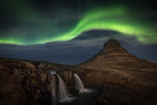 Northen lights on Kirkjufell