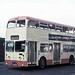 10-74 YDT211G Daimler Fleetline leaving Doncaster North Bus Station.