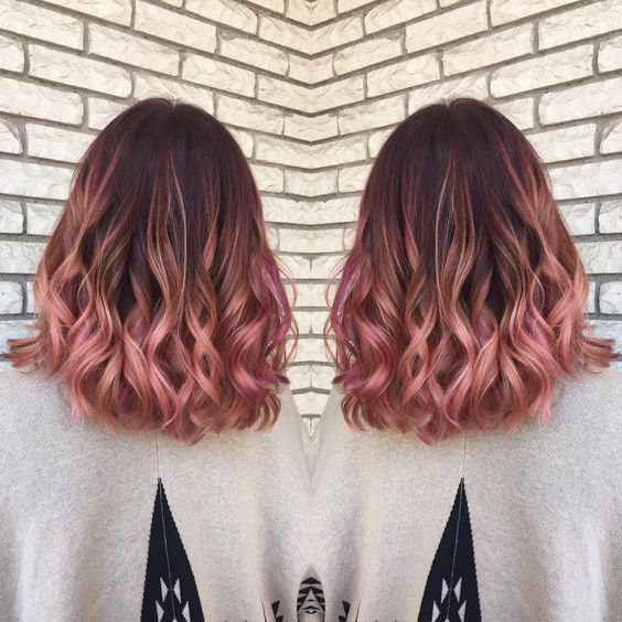 Adorable Rose Gold Hair Color Ideas For 2018 Trend