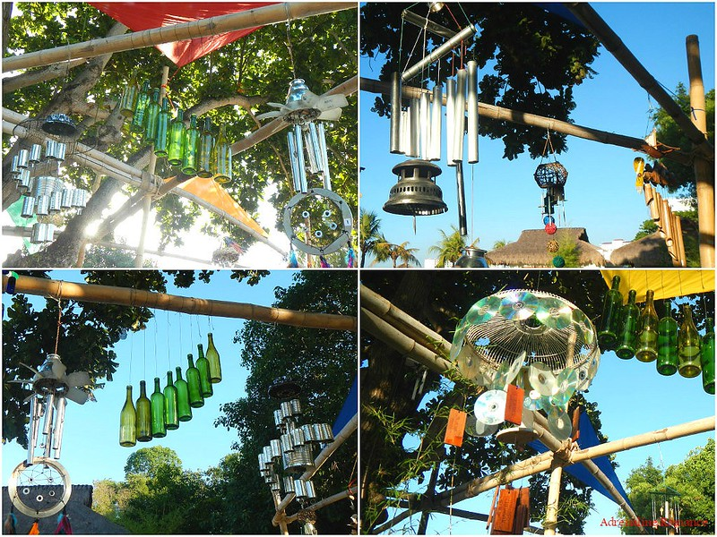 Mobiles made of recycled materials