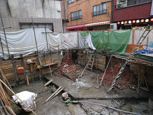 20180112浅草十二階(凌雲閣)土台発掘現場・浅草寺その他