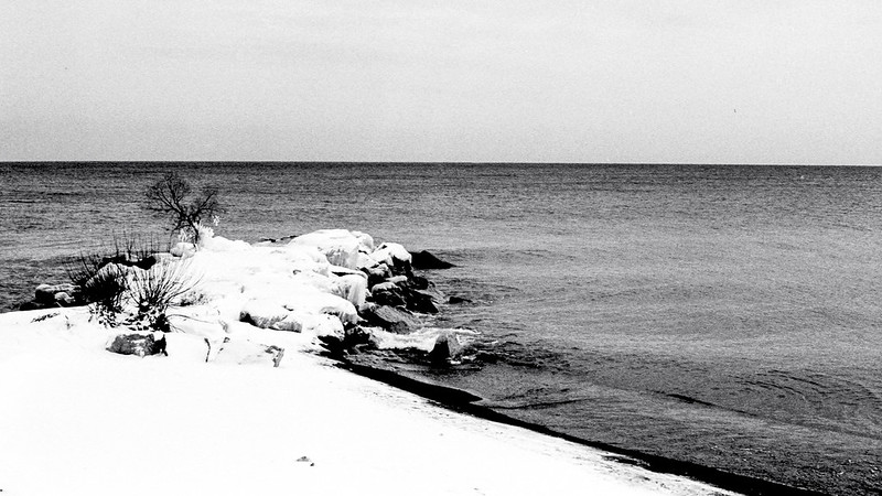 Snow Covered Secret Beach