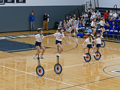 Unicycle routine at Bellarmine