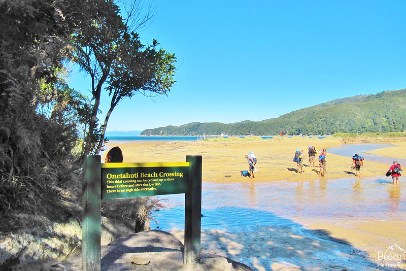 New Zealand Abel Tasman Trek - Onetahuti Beach Crossing