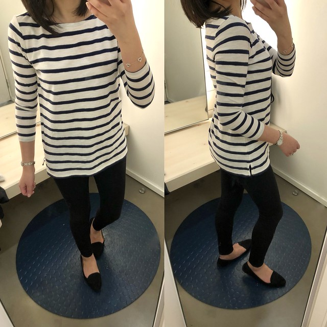 Old Navy Relaxed Mariner Stripe Tee, size XS regular